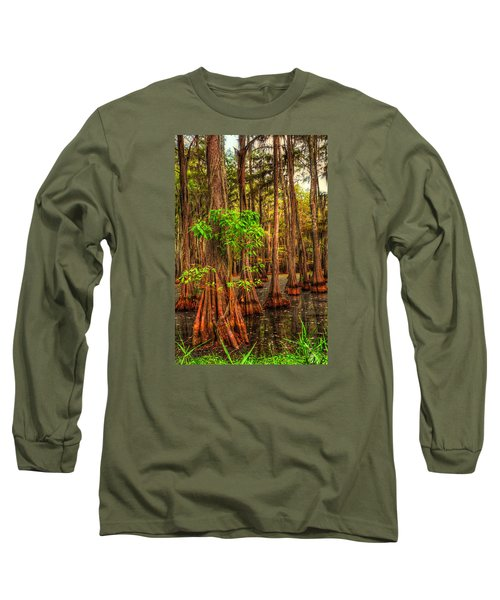 Louisiana Bayou Long Sleeve T-Shirt by Ester  Rogers