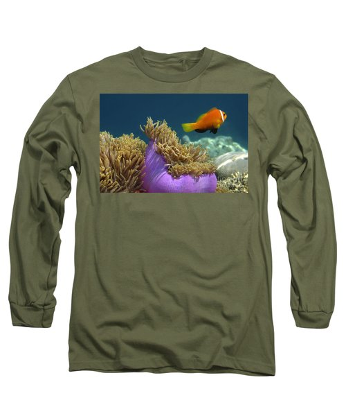 Long Sleeve T-Shirt featuring the photograph Maledives Clown Fish by Juergen Held