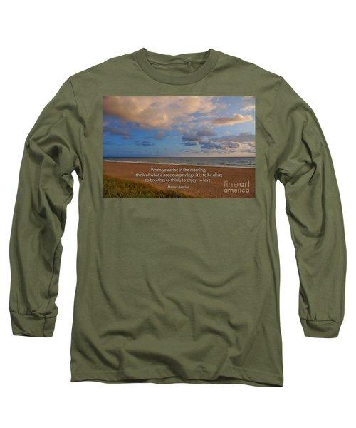2- Marcus Aurelius Long Sleeve T-Shirt