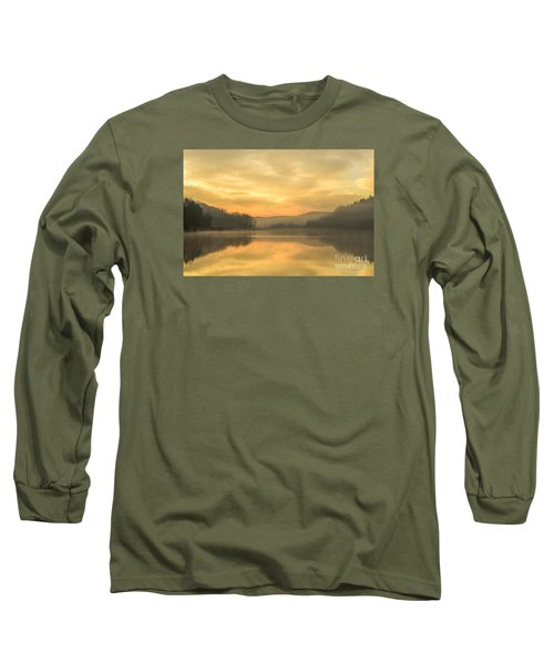 Misty Morning On The Lake Long Sleeve T-Shirt by Thomas R Fletcher