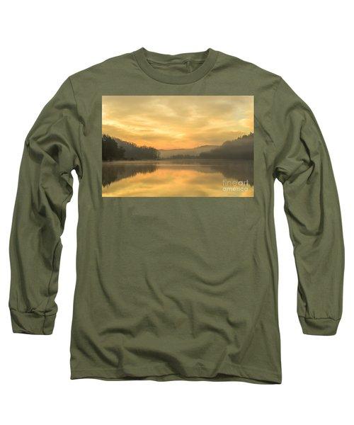 Misty Morning On The Lake Long Sleeve T-Shirt