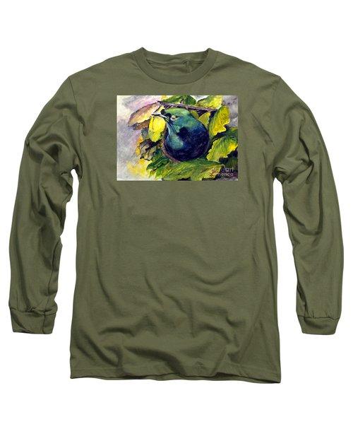Long Sleeve T-Shirt featuring the painting Paradise Bird by Jason Sentuf
