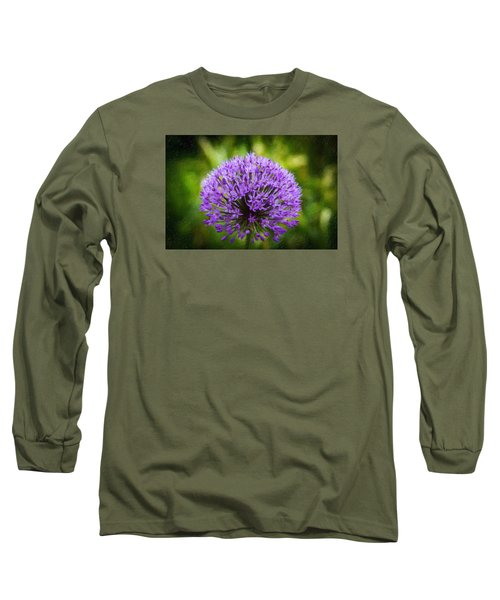 Pink Flower Long Sleeve T-Shirt by Andre Faubert