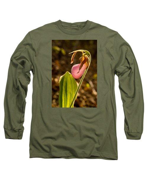 Pink Ladys Slipper 5 Long Sleeve T-Shirt