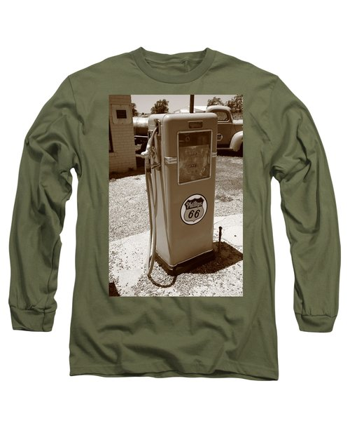 Route 66 Gas Pump Long Sleeve T-Shirt
