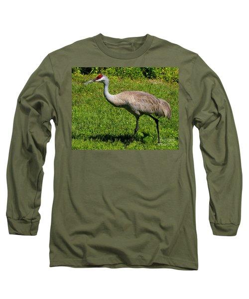 Sand Hill Crane Long Sleeve T-Shirt