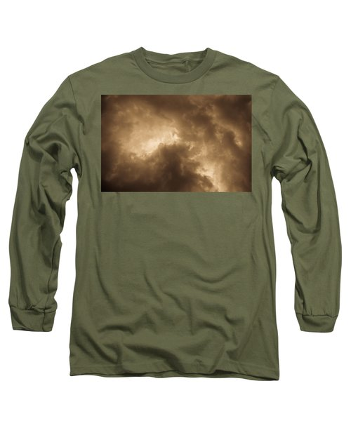 Sepia Clouds Long Sleeve T-Shirt
