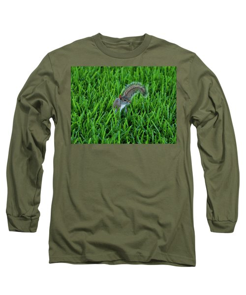 Long Sleeve T-Shirt featuring the photograph 2- Squirrel by Joseph Keane