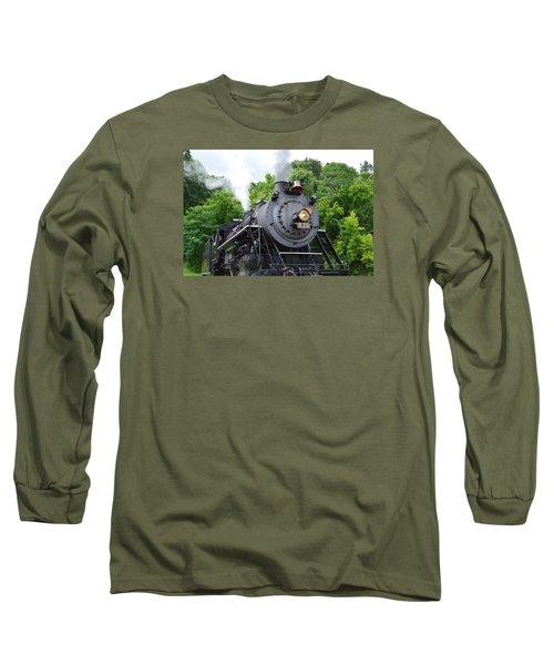Steam Engline Number 630 Long Sleeve T-Shirt by Linda Geiger