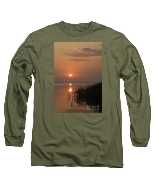 Long Sleeve T-Shirt featuring the photograph Sunset  by Inge Riis McDonald