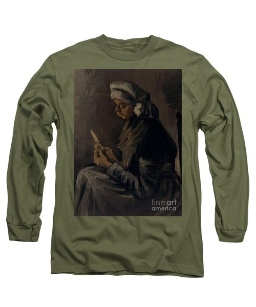 The Potato Peeler, 1885 Long Sleeve T-Shirt by Vincent Van Gogh