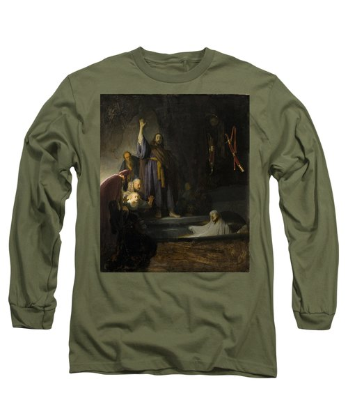 The Raising Of Lazarus Long Sleeve T-Shirt by Rembrandt