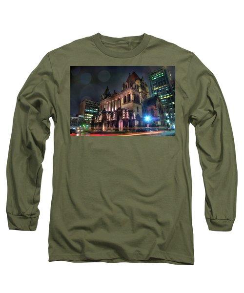Long Sleeve T-Shirt featuring the photograph Trinity Church - Copley Square Boston by Joann Vitali