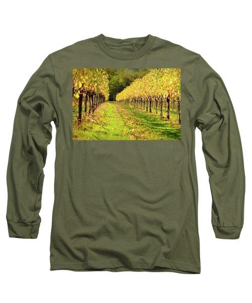 Vineyard In The Fall Long Sleeve T-Shirt