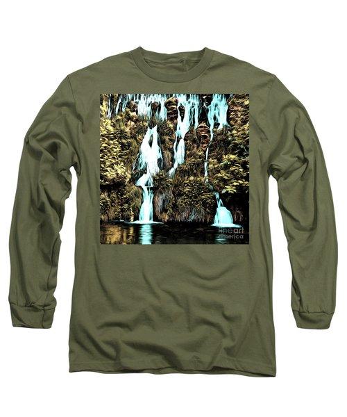 Waterfall Painting Long Sleeve T-Shirt