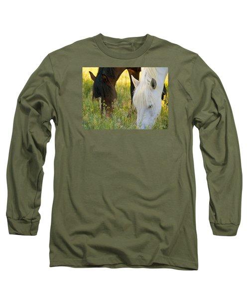 Wild Mustang Horses Long Sleeve T-Shirt