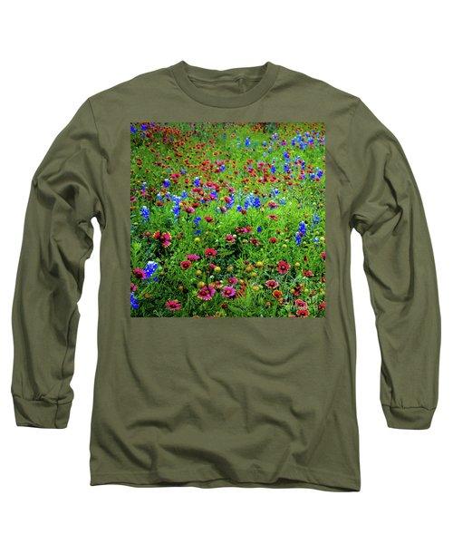 Wildflowers In Bloom Long Sleeve T-Shirt