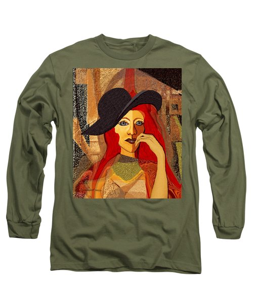 200 - Woman With Black Hat .... Long Sleeve T-Shirt