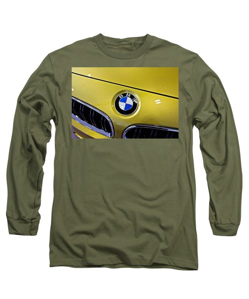 Long Sleeve T-Shirt featuring the photograph 2015 Bmw M4 Hood by Aaron Berg
