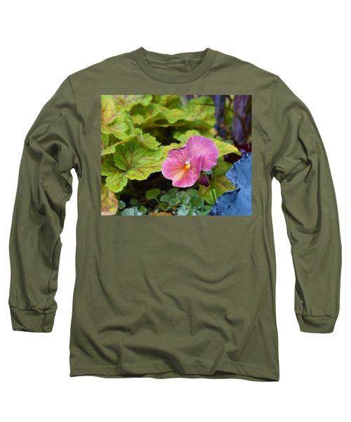 2015 After The Frost At The Garden Pansies 3 Long Sleeve T-Shirt