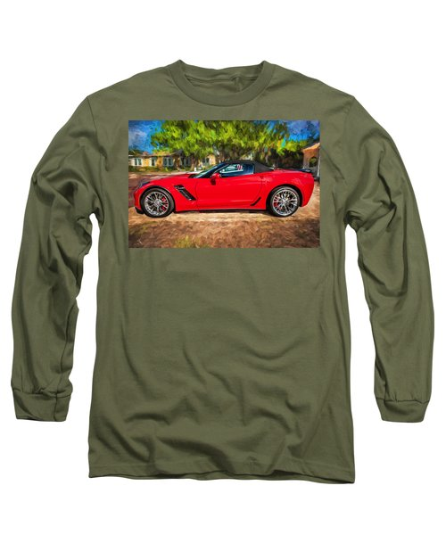 2015 Chevrolet Corvette Zo6 Painted  Long Sleeve T-Shirt