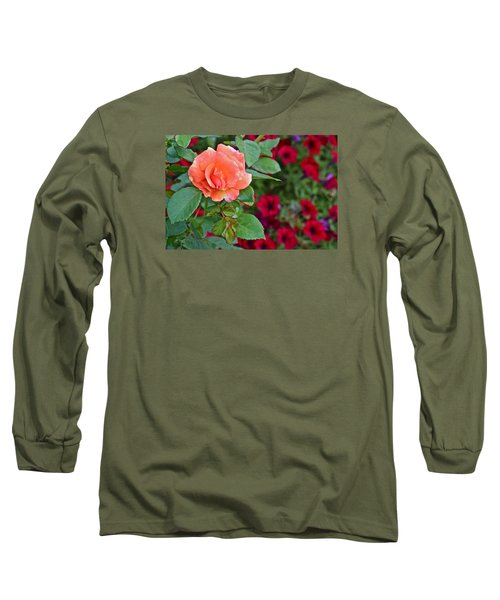 2015 Fall Equinox At The Garden Sunset Rose And Petunias Long Sleeve T-Shirt