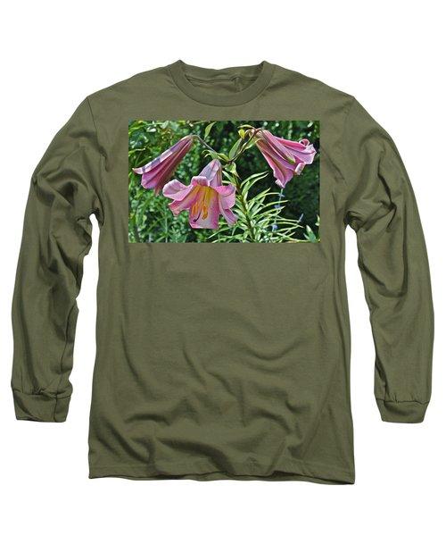 2015 Summer At The Garden Lilies In The Rose Garden 2 Long Sleeve T-Shirt