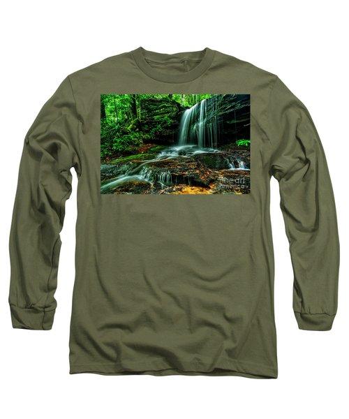 West Virginia Waterfall Long Sleeve T-Shirt