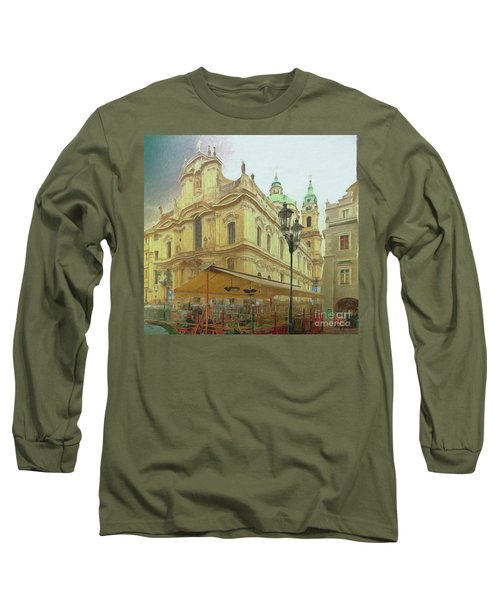 Long Sleeve T-Shirt featuring the photograph 2nd Work Of St. Nicholas Church - Old Town Prague by Leigh Kemp