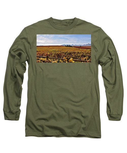 Autumn In The Vineyard Long Sleeve T-Shirt by Werner Lehmann