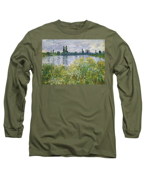 Banks Of The Seine, Vetheuil Long Sleeve T-Shirt
