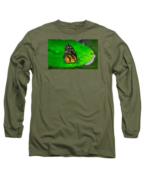 Butterfly Long Sleeve T-Shirt by Jerry Cahill