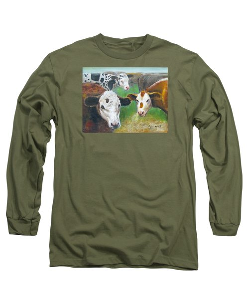 3 Cows Long Sleeve T-Shirt by Oz Freedgood