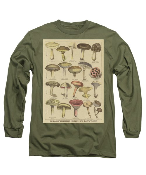 Edible And Poisonous Mushrooms Long Sleeve T-Shirt