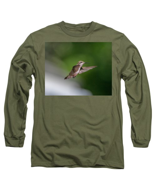 Female Ruby Throated Hummingbird Long Sleeve T-Shirt