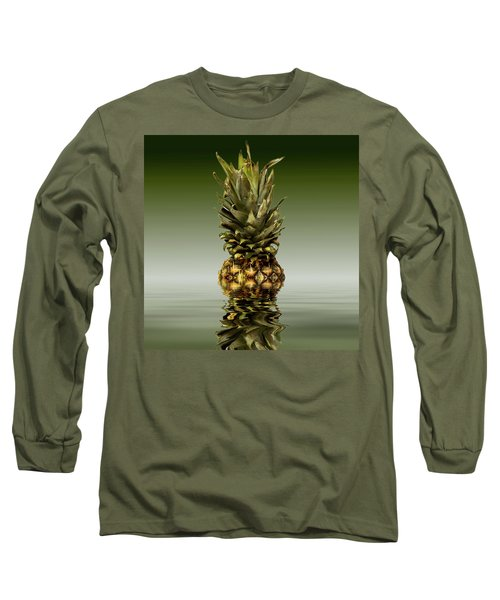 Long Sleeve T-Shirt featuring the photograph Fresh Ripe Pineapple Fruits by David French