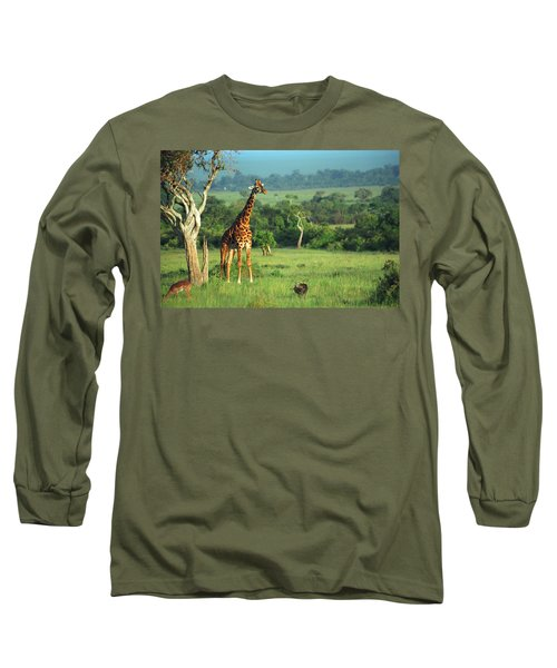 Giraffe Long Sleeve T-Shirt by Sebastian Musial