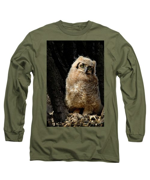 Great Horned Owlet Long Sleeve T-Shirt