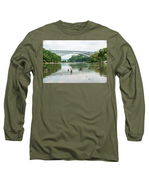 Henry Hudson Bridge Long Sleeve T-Shirt
