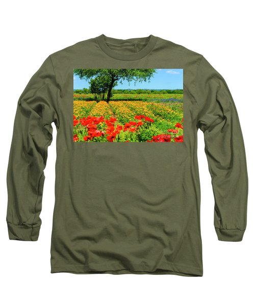 Hill Country In Bloom Long Sleeve T-Shirt