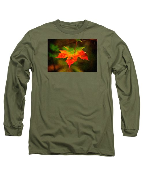 Maple Leaf Long Sleeve T-Shirt by Andre Faubert