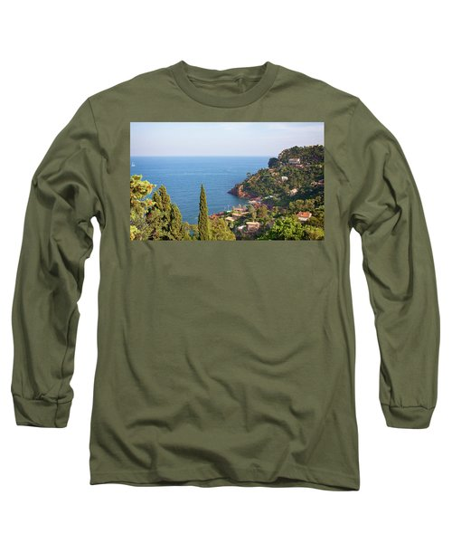 French Mediterranean Coastline Long Sleeve T-Shirt