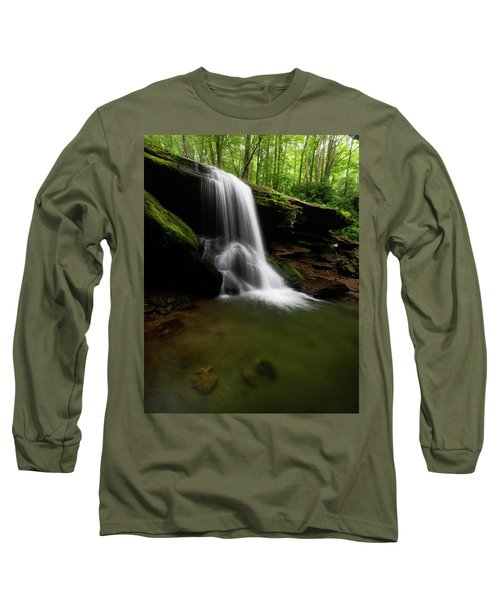 Otter Falls - Seven Devils, North Carolina Long Sleeve T-Shirt