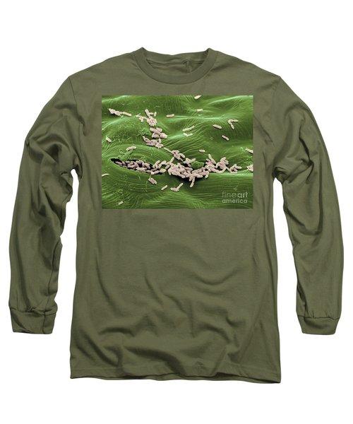 Sem Of E. Coli Bacteria On Lettuce Long Sleeve T-Shirt