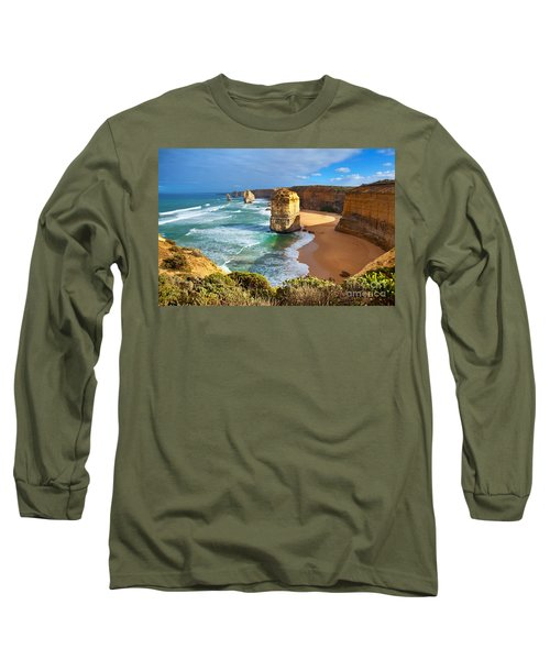 Long Sleeve T-Shirt featuring the photograph Twelve Apostles Great Ocean Road by Bill  Robinson