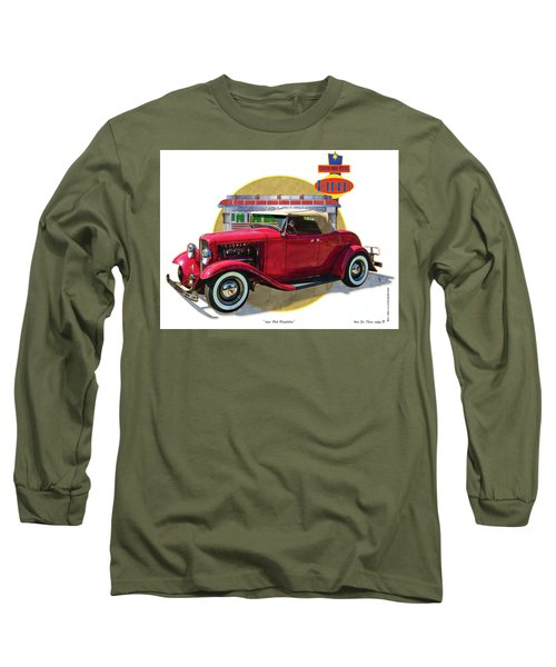 32 Red Roadster Long Sleeve T-Shirt by Kenneth De Tore