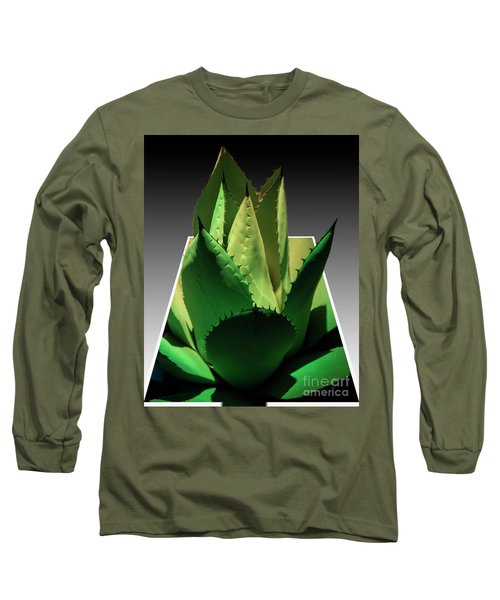 3d Cactus Long Sleeve T-Shirt by Darleen Stry