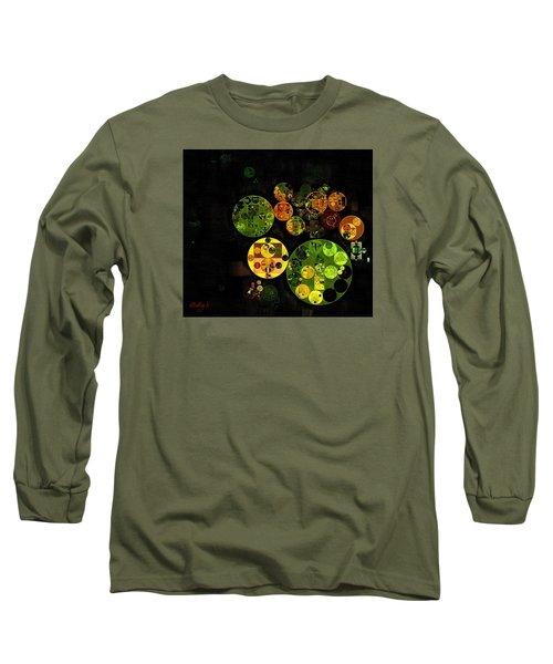 Long Sleeve T-Shirt featuring the digital art Abstract Painting - Black by Vitaliy Gladkiy