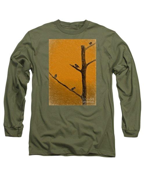 4 Birds Long Sleeve T-Shirt by Mim White