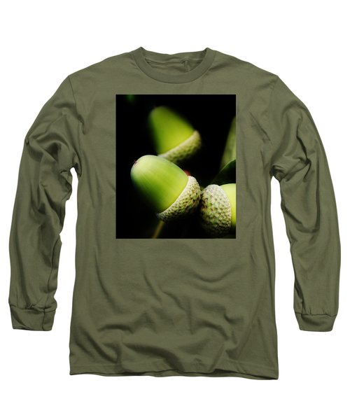 Foliage And Acorns Long Sleeve T-Shirt by Werner Lehmann
